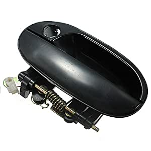 Funnytoday365 front left black outer outside exterior door handle for hyundai accent Hyundai accent exterior door handle