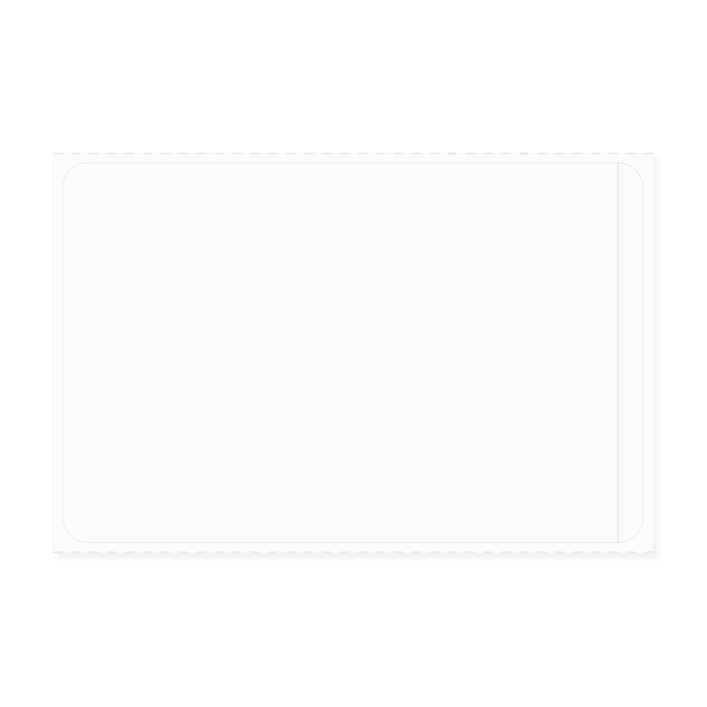 PDC Healthcare LDPB150 Label Direct Thermal Piggyback Paper, Permanent, 3'' Core, 3'' x 2'', White (Pack of 1500)