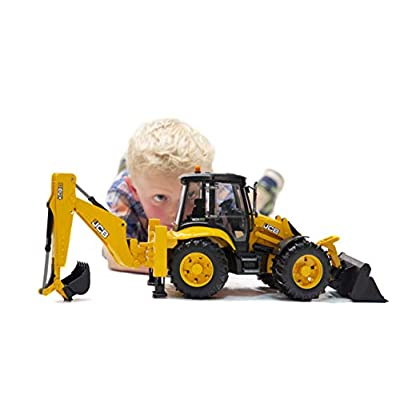 Bruder 02454 JCB 5CX Eco Backhoe Loader: Toys & Games