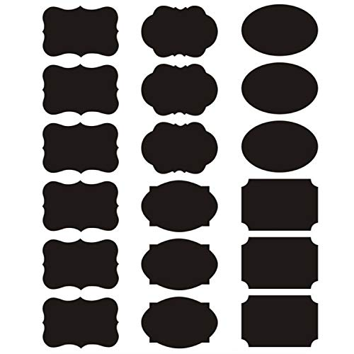 AxeSickle 180PCS Chalkboard Stickes Small Labels, Mason Jar Black stickes Labels for Food Storage Classification, Adhesive Blackboard Stickes Label for Organize Your Home and Kitchen, Office.