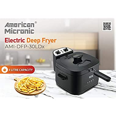 American Micronic AMI-DFP-30LDx-3 Litre Electric Deep Fryer with Timer & Variable Temperature Control, Black 14