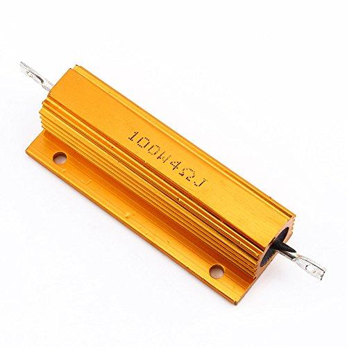 2pcs/set 4R 4Ohm 100W Watt Wirewound Aluminum Power Metal Shell Case Resistance Resistor