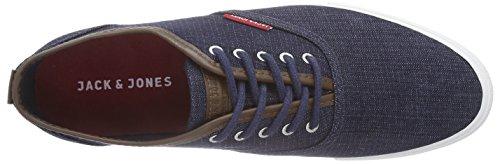 JACK & JONES JJSPIDER PU DENIM SNEAKER DRESS BLUE - zapatilla deportiva de lona hombre azul - azul oscuro