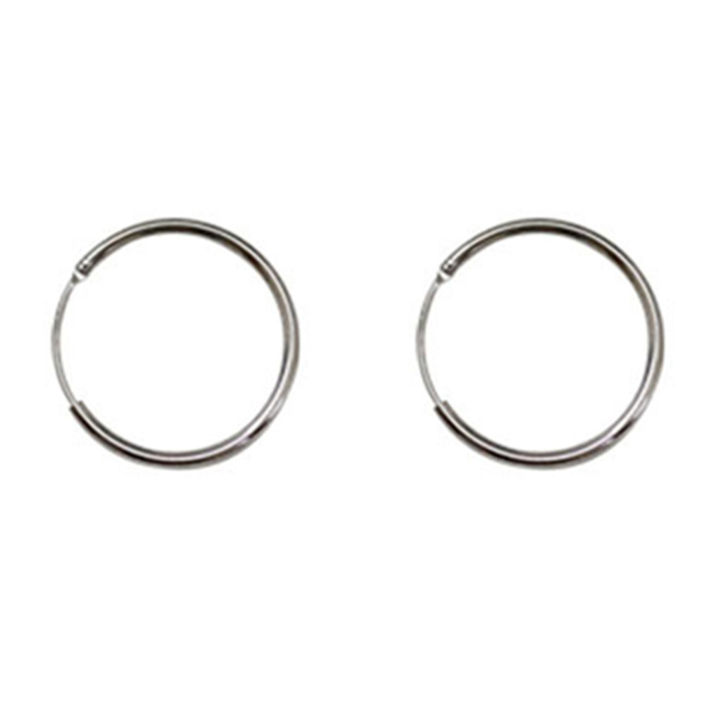 Sterling Silver Plain Round Hoop Earrings Smalll Silver Hoops Small 20MM