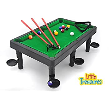 Charmant World Champion Mini Pool Set   Portable Pool Ball Game With 3 Cue Sticks,  Pocket