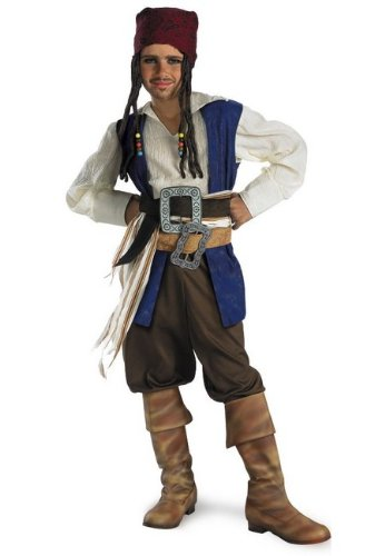 Captain Jack Sparrow Classic Costume - Small (Jack Sparrow Boots)