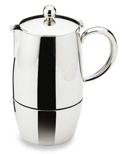 Bellux Stovetop Stainless Steel Espresso Coffee Maker 3 Cup Grunwerg BEC-03M