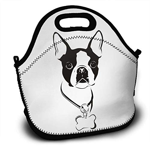 Amazon Com Yisliferunaz Boston Terrier Dog Lunch Bag Portable Bento