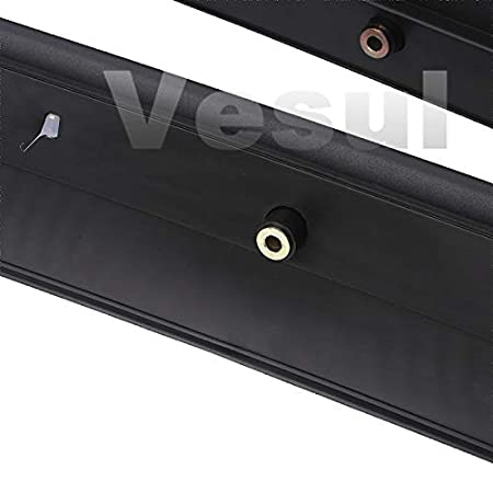 Vesul Black Luggage Carrier Cargo Roof Rack Rails Side Crossbars Cross Bars Compatible with Toyota Tacoma 2005-2018 2019
