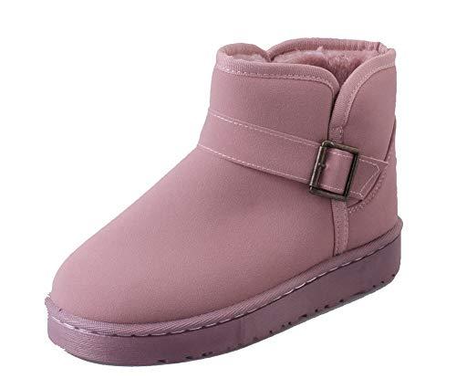 Mini Caña Heel Boots Solid Agoolar Gmxxa046294 Women Baja Rosa SqR45anICx