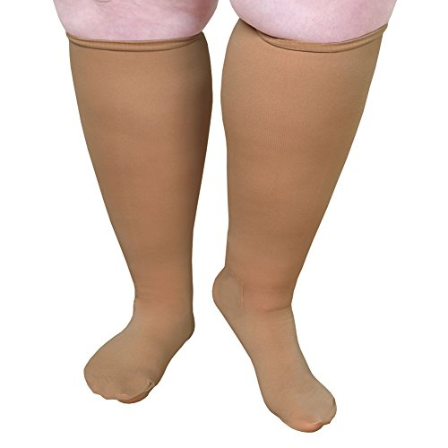 Unisex Extra Wide Moderate Compression Knee High Socks -Up to XW / 4E & 26