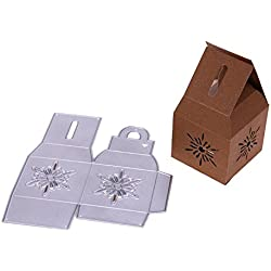 Die Cut - 1pc Snowflakes Box Christmas Metal Cutting Dies Die Cuts Album Embossing Template Card - Card Outs Jungle Plastic Embossing Sticker Ting Stock Grip Initial