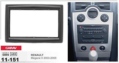 7/Fa/çade dautoradio Car Kit dinstallation double DIN dans Dash Set for Renault Megane II 2002 27 2009/+ Adaptateur ISO and Antenna Cable CARAV 11 151