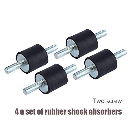 Rubber Vibration Isolator Mounts M6 2020, Air Compressor Pump Anti Vibration Rubber Mount Shock Damper ()