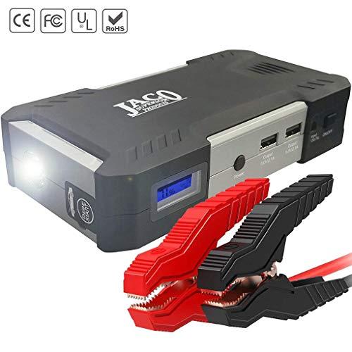 - JACO BoostPro Car Battery Jump Starter - Super Powerful Portable Jumper Start Pack for Vehicles, Motorcycles, Diesel Trucks, ATVs, Lawn Mowers, and Boats - 600A Peak / 16500mAh