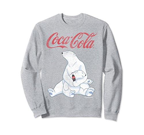 (Unisex Coca-Cola Vintage Faded Pair Of Polar Bears Sweatshirt Medium Heather)