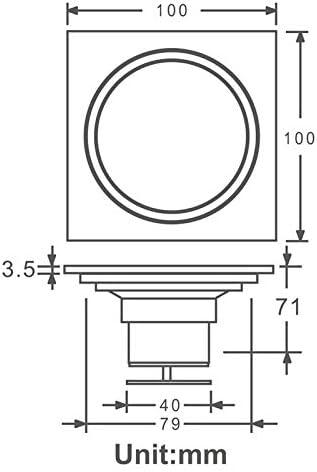 SDIAK Bodenablauf Ros/égold Duschablauf Waschbecken Badewanne Abtropffl/äche Bad Wc K/üche Balkon Universal Bodenablauf