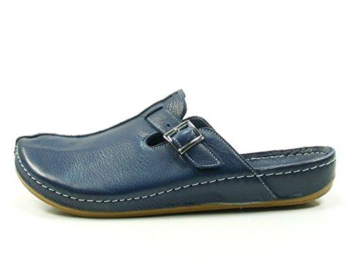 Andrea Conti 0021541 Dames Klompen Blauw (donker Blauw)