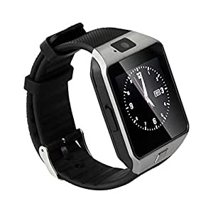 Soyan Latest DZ09 Watch Phone Bluetooth Smart watch Camera Watch WristWatch With Camera,SIM Card Slot and Protective Film Mate For Android Phones(Full functions)(Silver)