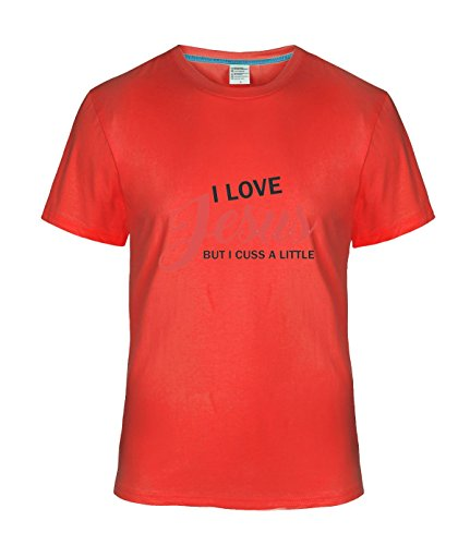 Eagle u2 Men's couple Tshirt I love jesus but i cuss a little red