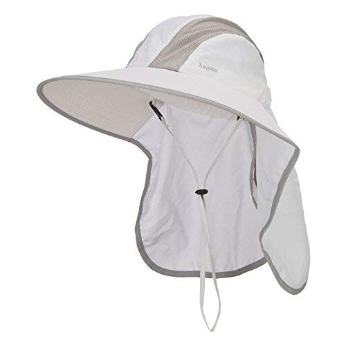 Talson UV Large Bill Flap Hat - White OSFM