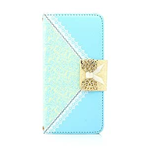 """Gearonic GEARONIC TM Lace Filp PU Leather Credit Card Holder Wallet Handbag Case with Chain for Apple iPhone 6 Plus 5.5"""" - Sky Blue - Carrying Case - Non-Retail Packaging - Sky Blue"""