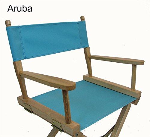 Sunbrella Directors Chair Replacement Cover (ROUND STICK) - Aruba