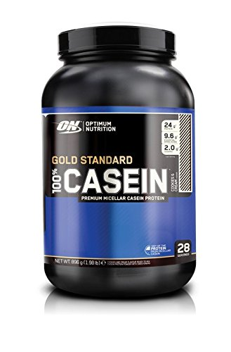 Optimum Nutrition 100 percentage Gold Standard Casein - Cookies and Cream, 1er Pack (1 x 896 g)