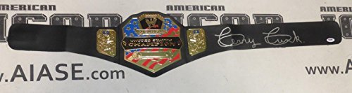 Terry Funk Signed WWE US Championship Toy Belt COA United States ECW NWA - PSA/DNA Certified - Autographed Wrestling Robes, Trunks and Belts -