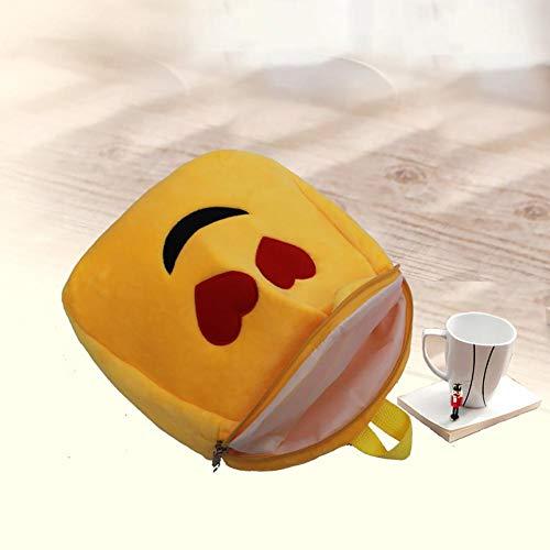 Infantil Da Lindo Felpa Animados Escolar Emoji Mollylover Bolso Qq Mini Zaino Mochila Juguete Bolsa Un Espressione Dibujos Expresión De qI5g1wg