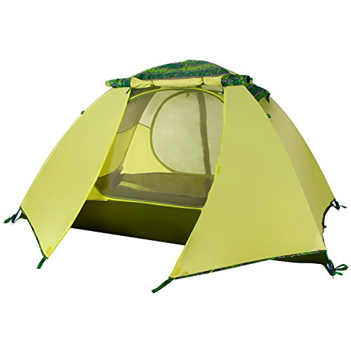 WolfWise 2-Person 3-4 Season Backpacking Tent with USB LED Light String Green Review