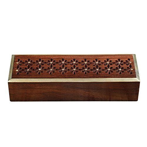 Rusticity Wooden Pencil Box/Pencil Case/Organizer Box for Pens, Pencils, Jewelry etc. for Kids and Adults | Handmade | (8x2.5 in)