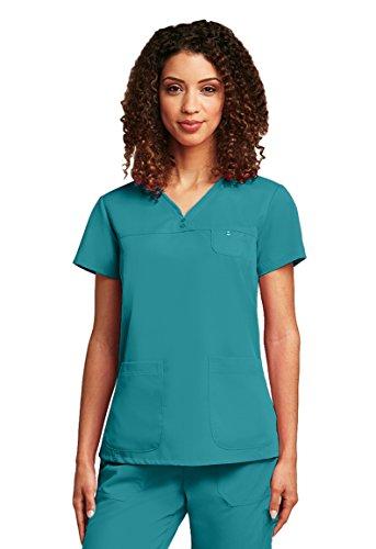 (Barco Grey's Anatomy Women's 41340 3 Pocket Sweetheart Neckline Tonal Stitch Scrub Top- Legend- 3X-Large)
