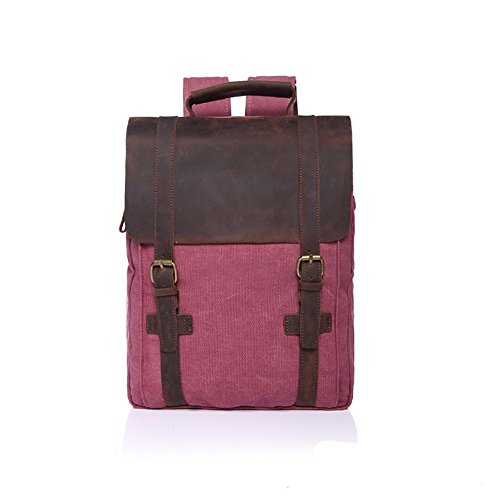 sechunk-retro-cotton-canvas-leather-laptop-bags-bookbag-working-bag-backpack-travel-duffel-bag-hikin