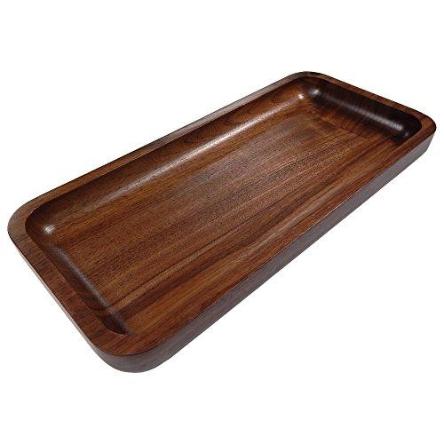 - Irving Solid Walnut Wood Rectangular Display Platter/Tray - Small
