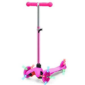 Best Choice Products Kids Mini Kick Scooter w/ Height Adjustable T-Bar (Pink)