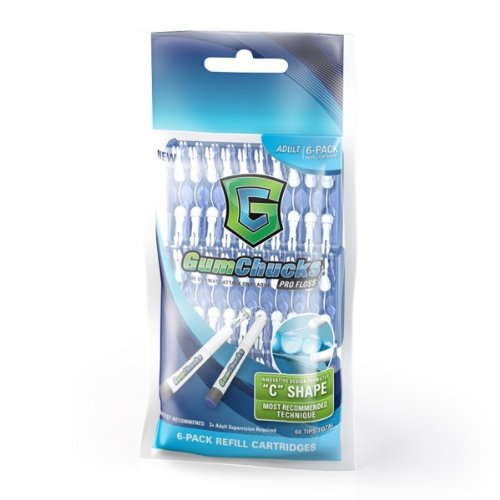 Gumchucks Adult Pro Floss Refill Cartridges (Pack of 6) (Gum Chucks Starter Kit compare prices)