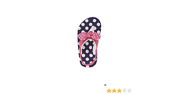 fb80fac7e Amazon.com: Wonder Nation Toddler Girls' EVA Beach Flip Flop Size: 11-12  (Navy Pink with Polka Dots): Shoes