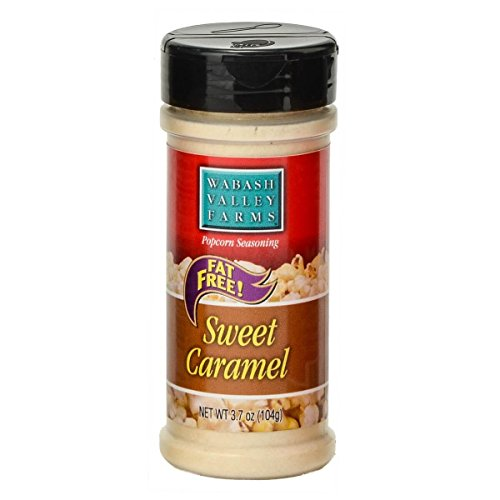 Caramel Apple Topping - Wabash Valley Farms Popcorn Seasoning, Sweet Caramel - Great for Fruits, Nuts, Ice Cream, Yogurt, Pretzels and More - Fat-Free, 0 Calories Per Serving - 3.7oz