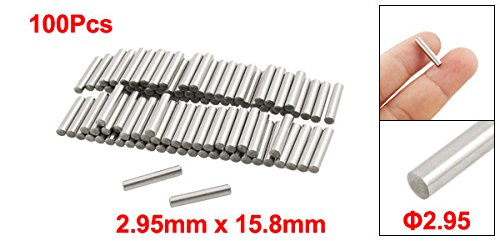 uxcell 100 Pcs Stainless Steel 2.95mm x 15.8mm Dowel Pins Fasten Elements