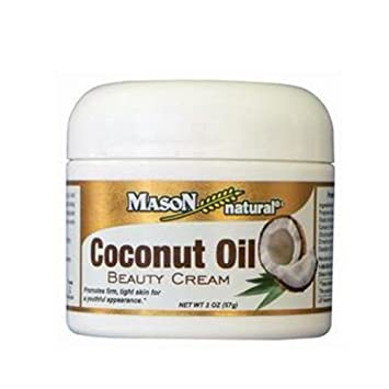 Mason Natural Coconut Oil Beauty Cream 2 oz Pack of 5