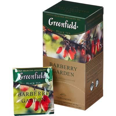 ([2 PACK] black tea Greenfield barberry garden Beverages Grocery Gourmet Food [25 of tea bags in 1 PACK])