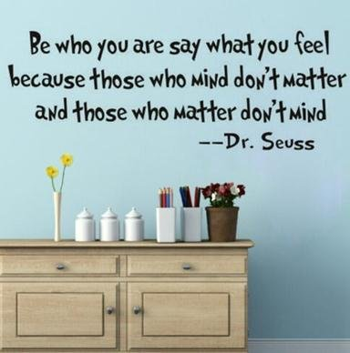 Amazoncom DIY Removable Quote Be Who You Are DrSeuss Wall Decals
