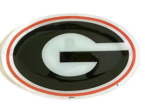UGA Georgia Bulldogs Game Day Serving Platter Burger Plate BBQ Grill Master Tailgate NCAA (Georgia Game Day Chip)