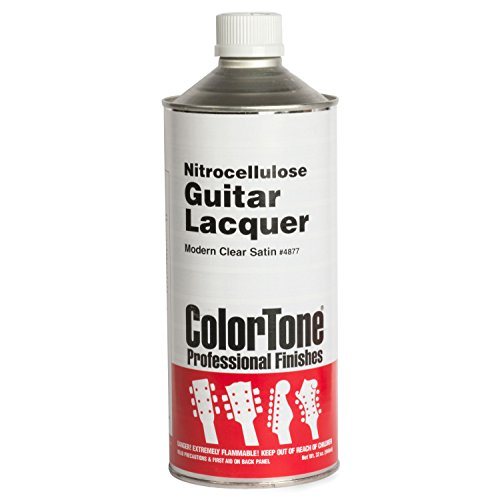(ColorTone Modern Clear Satin Nitrocellulose Guitar Lacquer, 1-Quart Can)