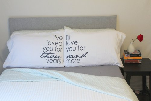"""Oh, Susannah I Have Loved You for Thousand Years Pillow Cases   Wedding Gift His and Hers (Two 20x30"""" Pillowcases)"""