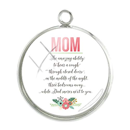 - Pendants -1Pc Simple Mom Style Pendants Charms I Love You Pictures Mother39;S Day Gift 20Mm Fashion Handmade Jewelry - Mom108