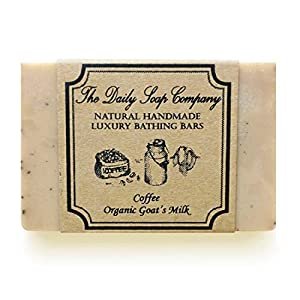 The Daily Soap Company Coffee Soap with Organic Goat Milk, 100 gms, Natural AHA Handmade Soap, Anti Aging, Reduces Tan…