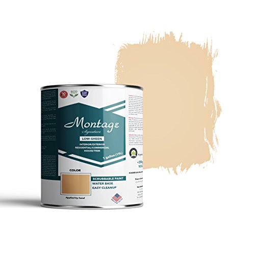 Mustard House - Montage Signature Interior/Exterior Eco-Friendly Paint, Mustard Seed - Low Sheen, 1 Gallon