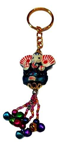Llavero Ganesh resina con cascabeles (Pistacho): Amazon.es ...